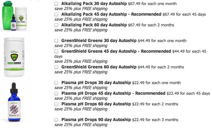 Alkalizing Autoship